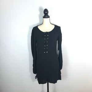 NWT Kendall + Kylie Black Lace Up Dress   Size: S
